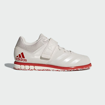 Adidas Powerlift 3.1 Mens White & Red Weight Lifting Shoes Gym Trainers Fitness