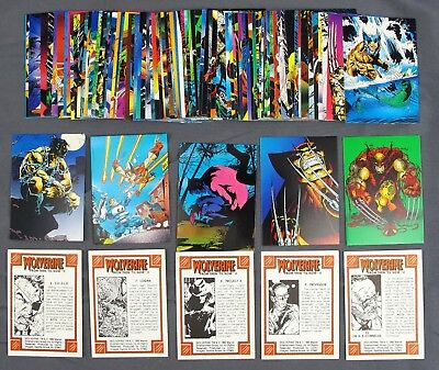 1992 Comic Images Wolverine From Then Till Now 2 Trading Card Complete Set #1-90