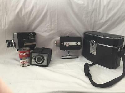 2 Vintage Movie Cameras Viceroy & Bell & Howell and a Tower Box Camera