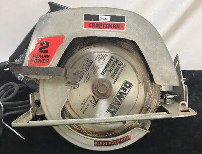 """Sears Craftsman 7-1/4"""" Circular Saw Double Insulated 5400 Rpm"""