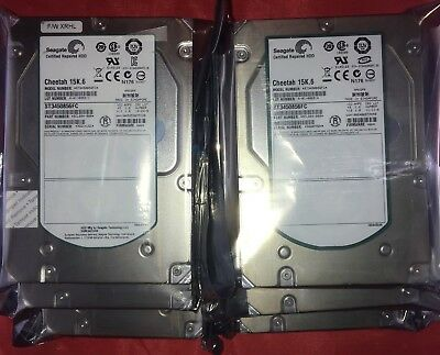 """Lot of 6 Seagate Cheetah ST3450856FC 450GB 15K.6 3.5"""" FC - Certified Repaired"""