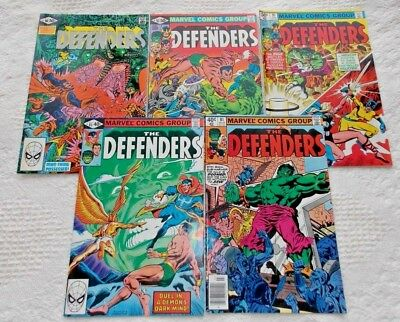 MARVEL Lot (5)- DEFENDERS: #81, #83, #91, #93, & #98 (Avg 7.0= FN+/VF-);