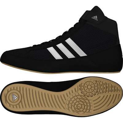 Adidas Havoc Kids Wrestling Shoes Boxing Boots Trainers Childrens Black White