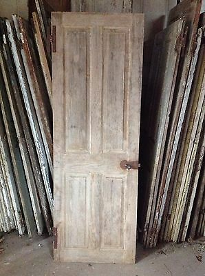 Antique Door New England 18th C Interior 4 Rsd Pnl Door Keyhole Spring Latch