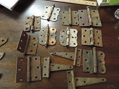 Mixed Lot of 18 Assorted Vintage Hinges Gate Hardware