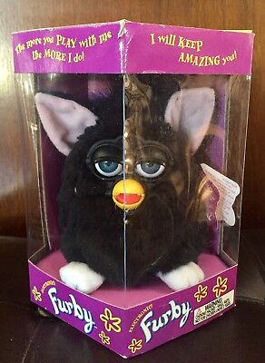 BLACK WITCHES CAT ~ Original Furby 1998 ~ BRAND NEW, NEVER REMOVED FROM BOX