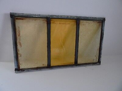 """Vintage Stained Glass Window Panel From Old Church  8 3/8""""  x 14 3/8 """"    4 of 8"""