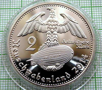 New Swabia Neuschwabenland German Arctic Territories 2014 2 Mark Unusual, Proof