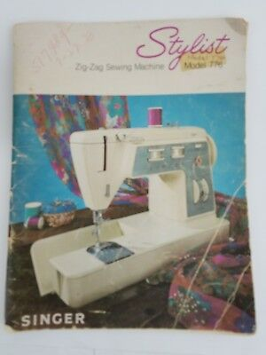 Singer Stylist 776 Sewing Machine Manual & Parts