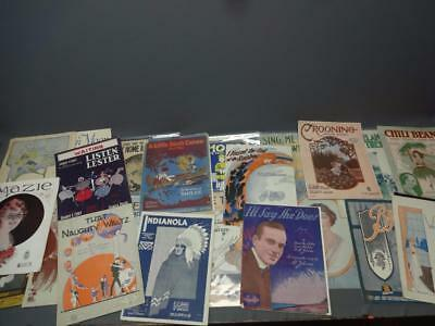 Lot of Antique 18th and 19th Century Sheet Music Musical Instrumental