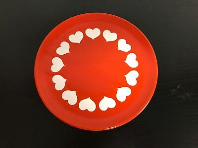 waechtersbach hearts Plate - Red, Germany, Ceramic, Valentines  - Multiple avail