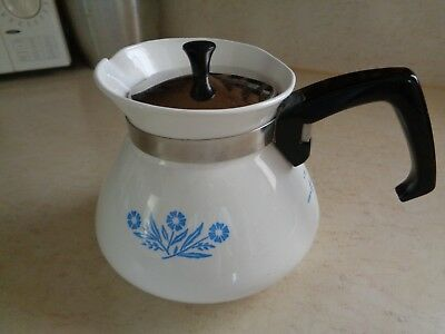 Corning Ware Cornflower Blue 6 Cup Stove Top Tea Kettle With Stainless Lid