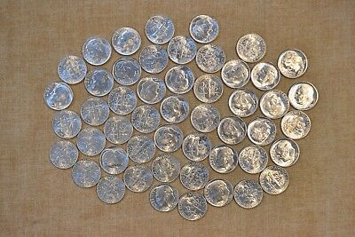 Roll Of 1953-P Roosevelt Dimes - Uncirculated With Problems - 50 Coins