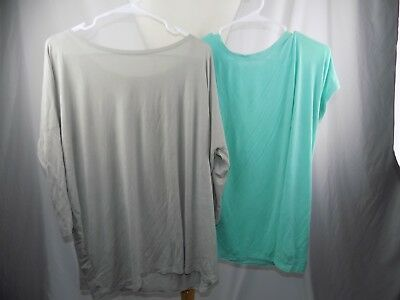 Piko Women's Lot of 2 Tops Shirt Size Large Green & Tan