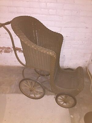 Antique Victorian Wicker Wheel Chair Excellent Condition