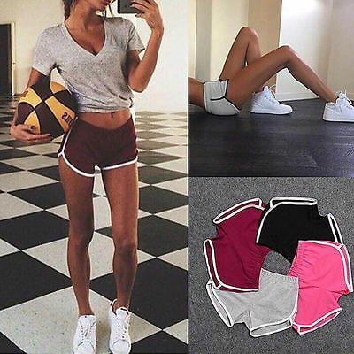 Women Mini Hot Pants Sports Shorts Gym Workout Yoga Fitness Training Running BM