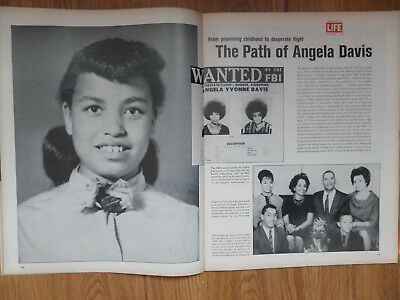 1970 Magazine Article Ad Wanted by the FBI The Path of Angela Davis
