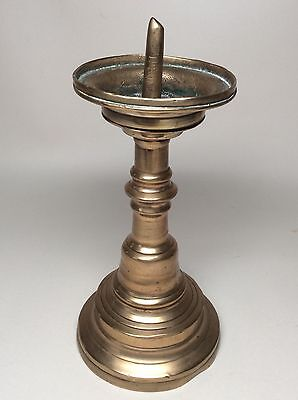 Mid to Late 16th Century Northern European Bronze Pricket Candlestick Brass 17th