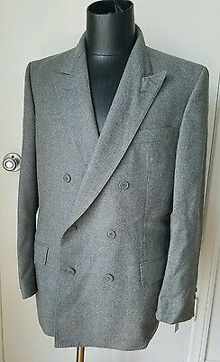Authentic GIVENCHY Men's Heather Gray Double Breasted Wool Blazer Jacket