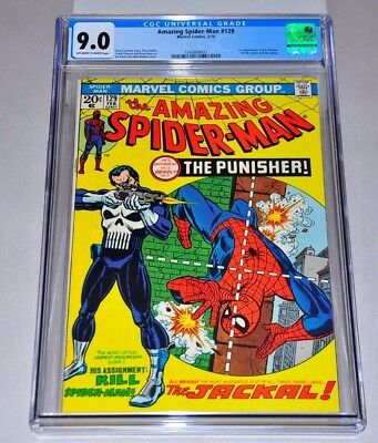 Amazing Spider-Man 129 CGC 9.0 OW/W Pages 1st Punisher