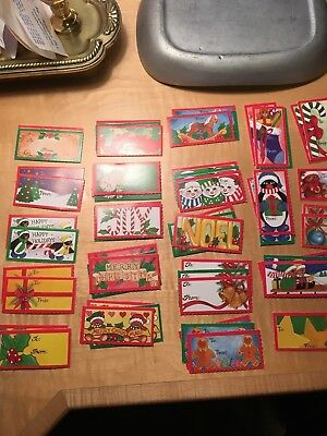 55 NEW/OLD STOCK  Vintage 60's- 70's  Christmas Gift Tags