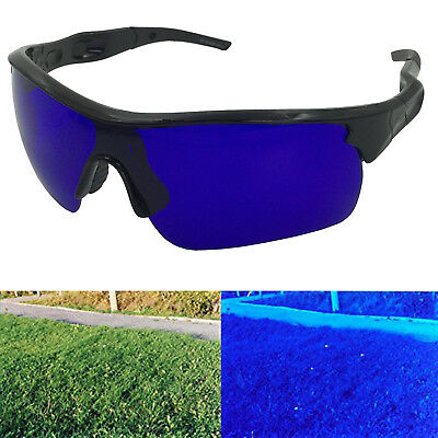 dba9c7b043b Golf Ball Finder Glasses Black Frame Sports Sunglasses True Blue Lens  Locating