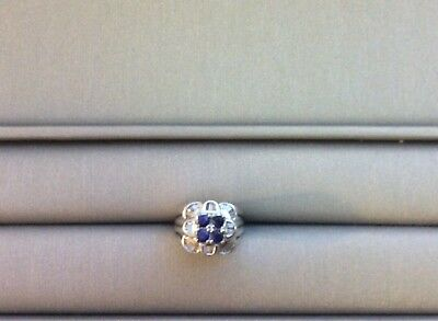mens 18k white gold diamond ring With Sapphires