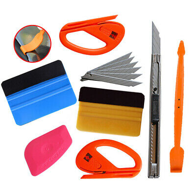 Car Vinyl Wrapping Tools 3M Felt Squeegee Snitty Cutter for Window Tint Stickers