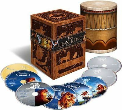 The Lion King Trilogy 3D (Blu-ray/DVD, 2011, 8-Disc, Diamond Edition 3D) NEW OOP