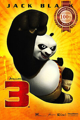 New Kung Fu Panda 3 Three Punch Movie Film Original Cinema Print Premium Poster