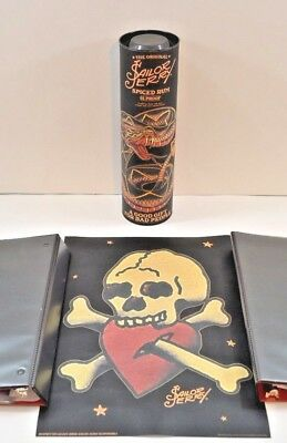 "2016 Sailor Jerry Spiced Rum Mini  Print w/ Canister ""Skull & Crossbones"" Tattoo"