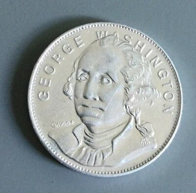 George Washington Shell Famous Facts And Faces 1st US President  Coin Medal