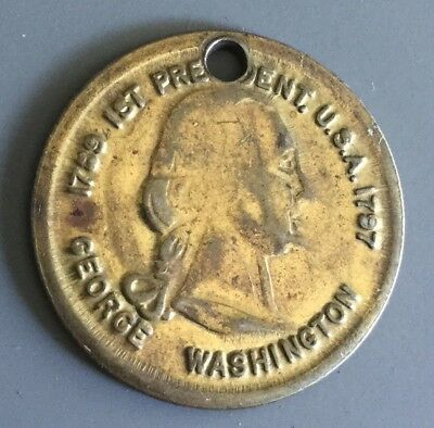 George Washington 1st President Of The United States Token Fob Coin Medal