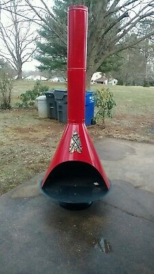 Mid Century Modern Red Freestanding Cone Fireplace Retro Martin stamp and stove