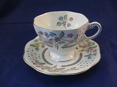 Vintage Foley China English Bone China Tea Cup and Saucer