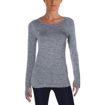 Sweet Romeo 7520 Womens Gray Compression Pullover Top Athletic XS/S BHFO