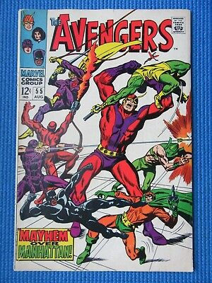 Avengers # 55 - (Fn-) - 1St App Of Ultron-5 - Masters Of Evil-Hawkeye, Wasp
