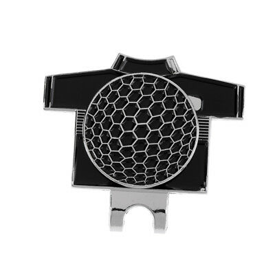 Funny Golf T Shirt Pattern Magnetic Hat Clip with Golf Ball Marker Black