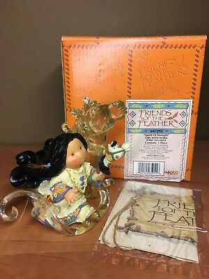 "Enesco Friends Of the Feather ""Spirit Of Strength"" Girl with Horse Figurine"