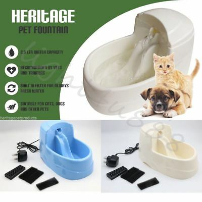 Auto Cat Dog Kitten Water Drinking Fountain Pet Bowl Pump Filter Fresh Feeding U