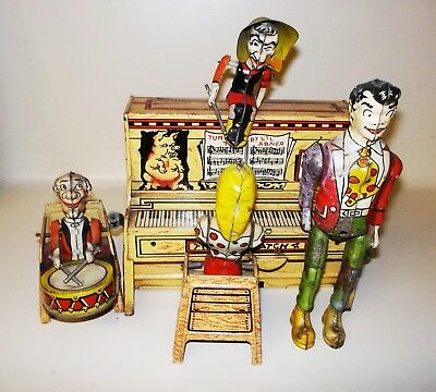 Vintage Lil Abner & His Dogpatch Band Tin Litho Wind Up All Original & Complete