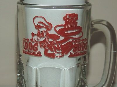 Vintage Dog n Suds Mug  2 Pounds Plus This Is Old School Heavy  Bright Glass EXC