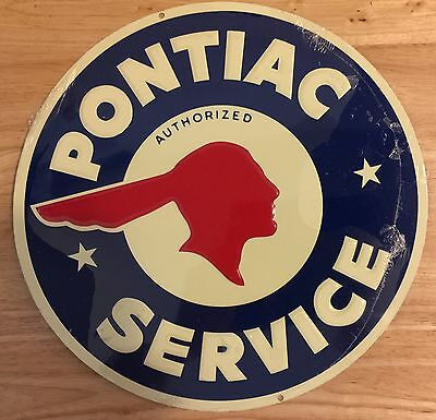 PONTIAC ANDE ROONEY ADVERTISING WALL SIGN Sealed
