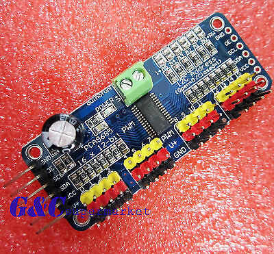 2pcs 16-channel 12-bit i2c PMW Driver Servo Driver PCA9685 For Arduino