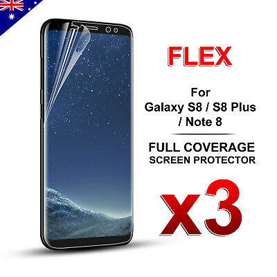 3X Galaxy Note 8 S8 Plus Full Coverage Soft TPU Screen Protector for Samsung #LA