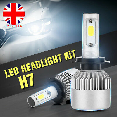 H1//H4//H7 200W 20000LM LED Lamp Headlight Kit Car Beam Bulbs 6000K UK