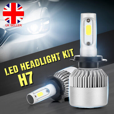2 x H1/H4/H7 200W 20000LM PHILIPS LED Headlights Kit Car Beam Lamps Bulbs White