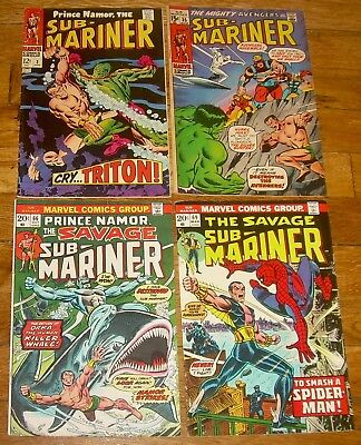 Lot of 4 The SUB-MARINER comics #2, 35, 66, 69 Marvel DEFENDERS Avengers nr