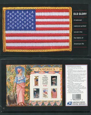 3780b Prestige OLD GLORY BOOKLET OF 20, BK294 Marked Down BELOW FACE! Free ship