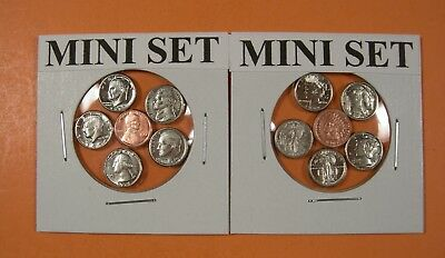 10 Mini Coin Sets - 5 Of Each Type.